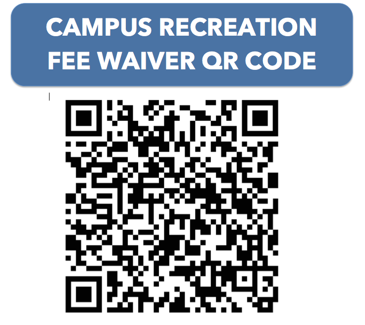 qr code for campus rec fee waiver application