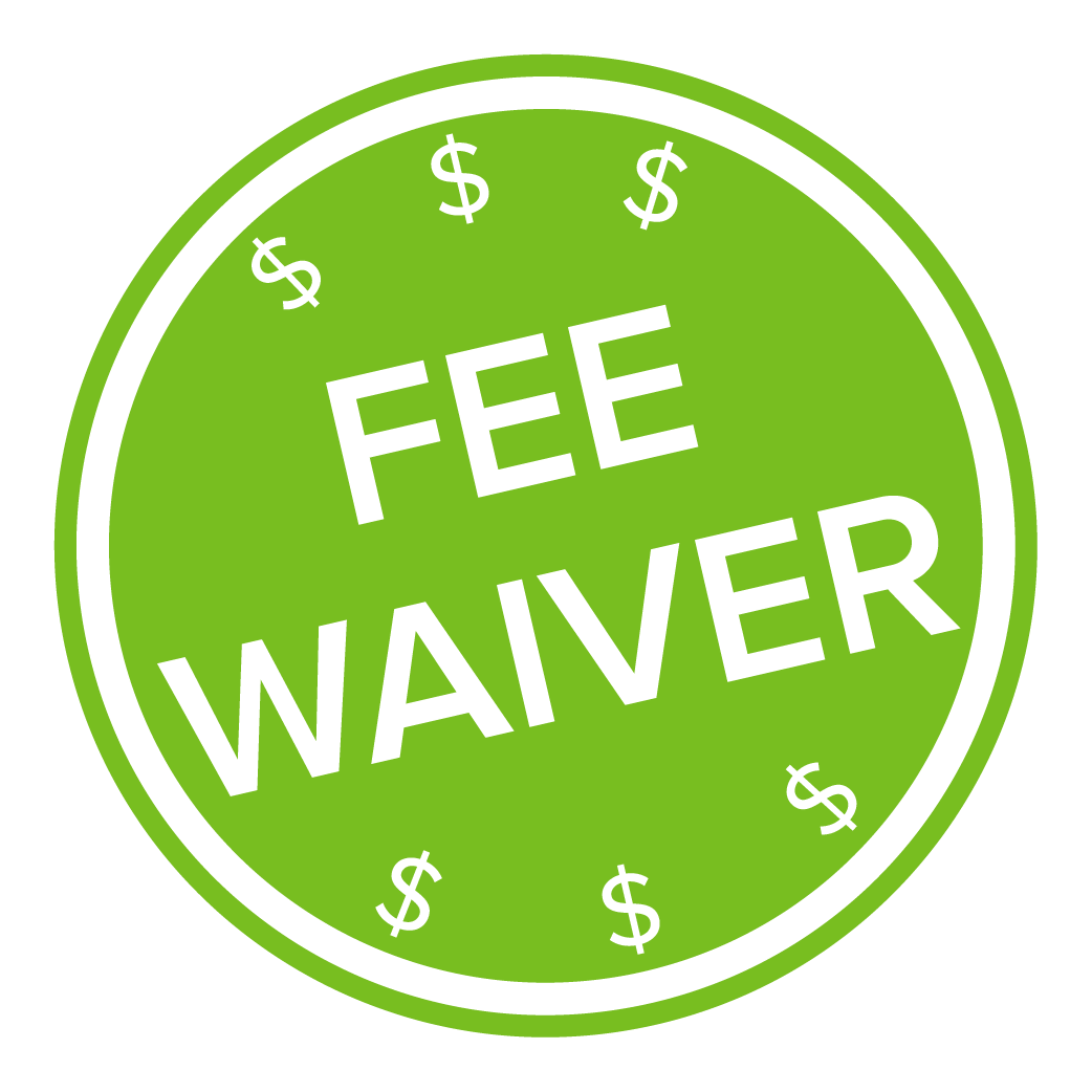 fee waiver icon