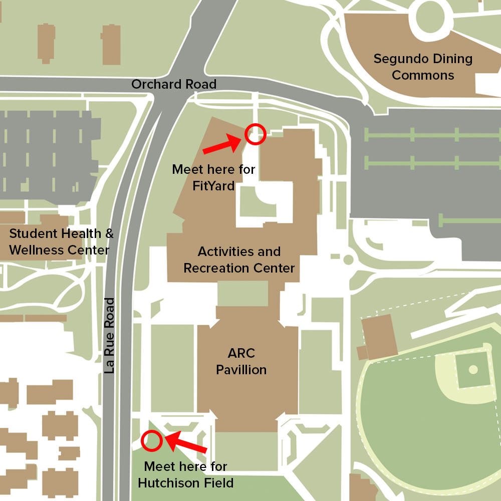 Map to Outdoor Facilities