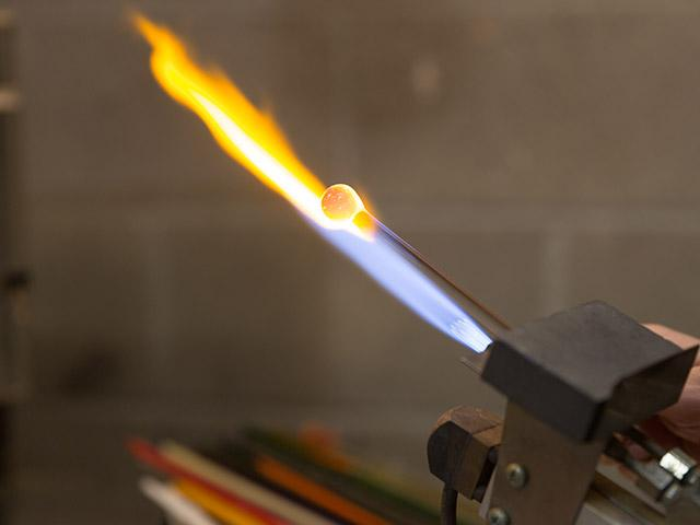 Blow torch at the Craft Center