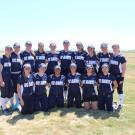 2 rows of softball players team photo shoot