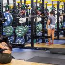 People exercising in the ARC weight room