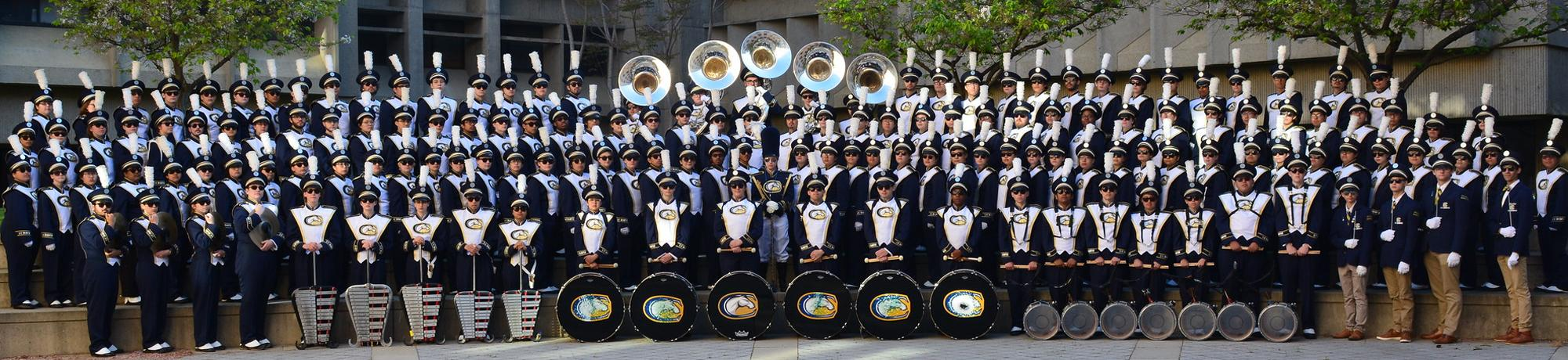 Marching Band in full dress uniforms.